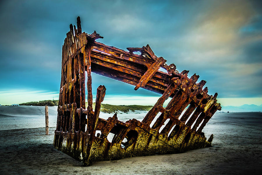 Rusty Photograph - Rusty Forgotten Shipwreck by Garry Gay
