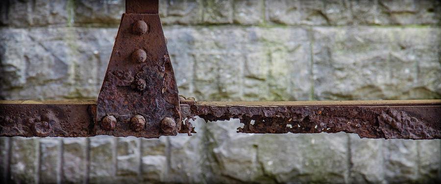 Rusty Photograph - Rusty Girder by Mike Burgquist