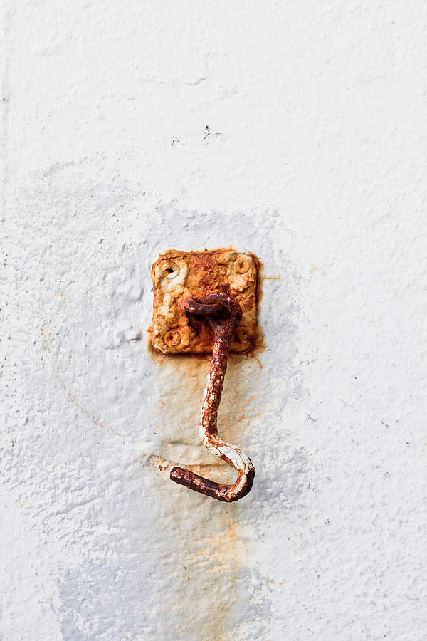 Abstract Photograph - Rusty Hook by Tom Gowanlock