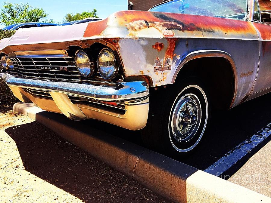Impala Digital Art - Rusty Impala by Sue M Marshall