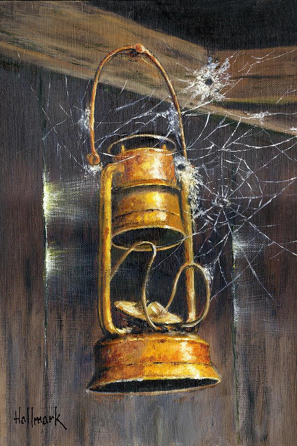 Cobwebs Painting - Rusty Lantern by Bob Hallmark