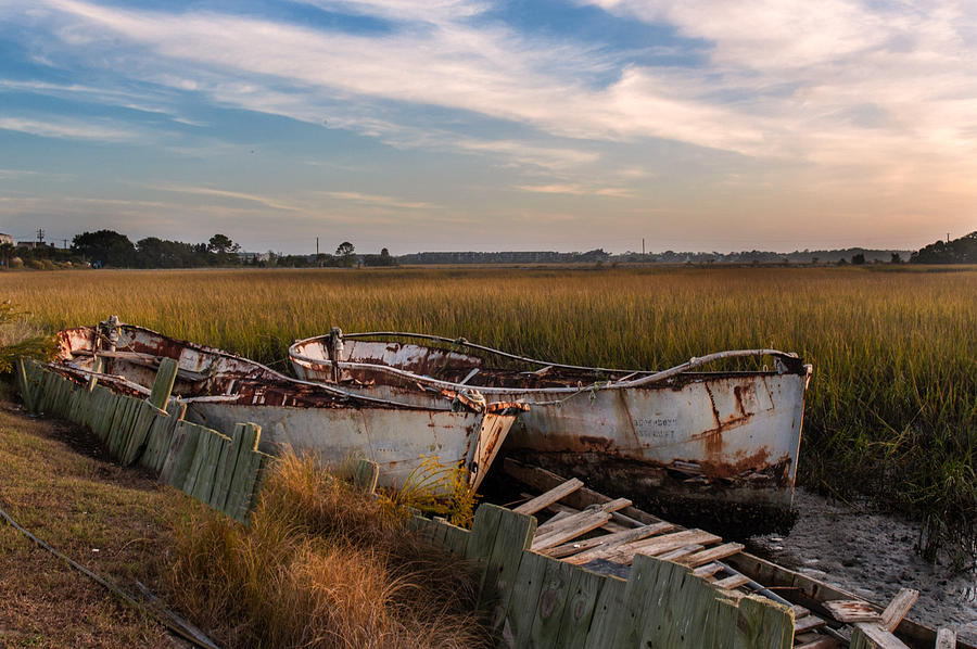 Rusty Lowcountry Boats Photograph By Drew Castelhano