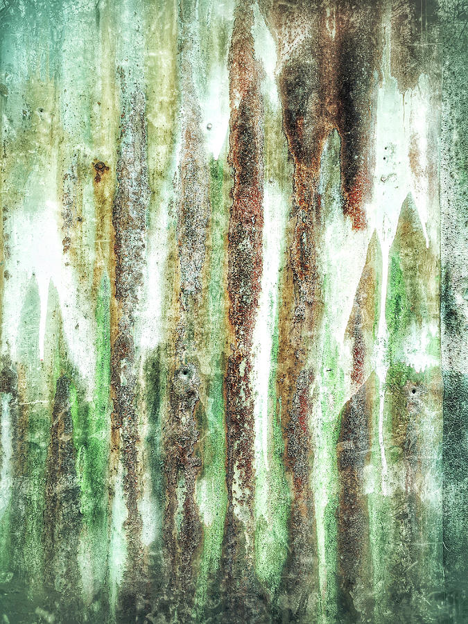 Abstract Photograph - Rusty Metal Background  by Tom Gowanlock