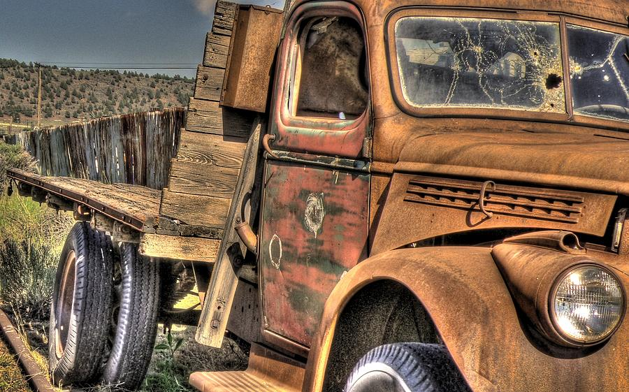 Truck Photograph - Rusty Old Truck by Peter Schumacher