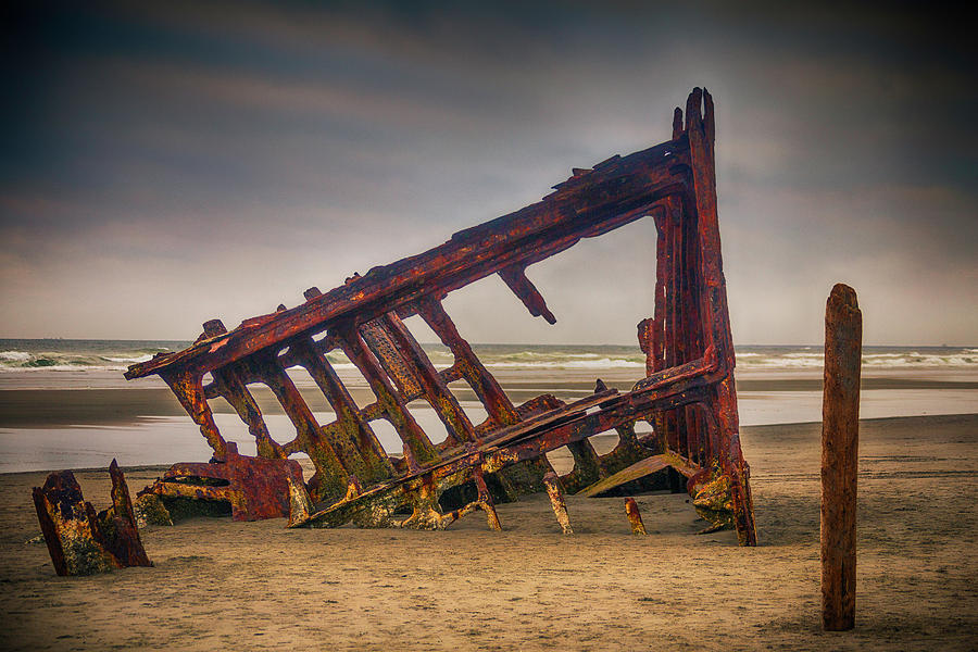 Rusty Photograph - Rusty Shipwreck by Garry Gay