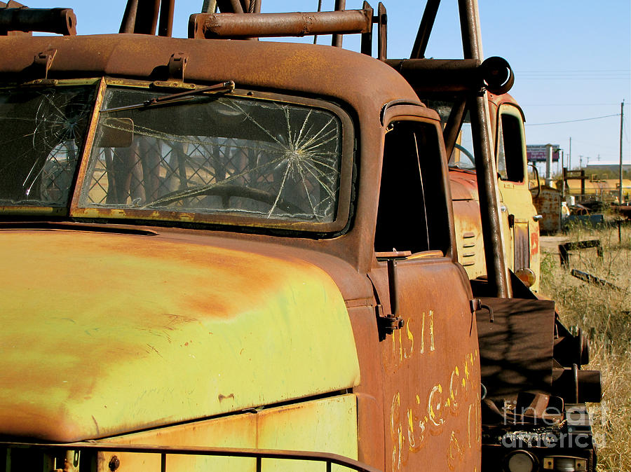 Transportation Photograph - Rusty Tow by Slade Roberts