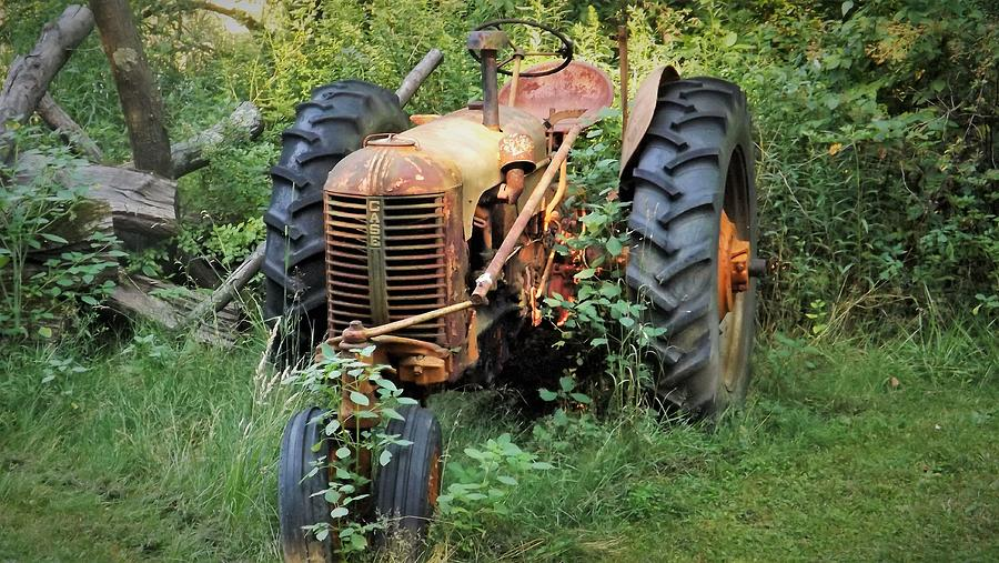 Case Photograph - Rusty Tractor 3  by Joyce Wasser