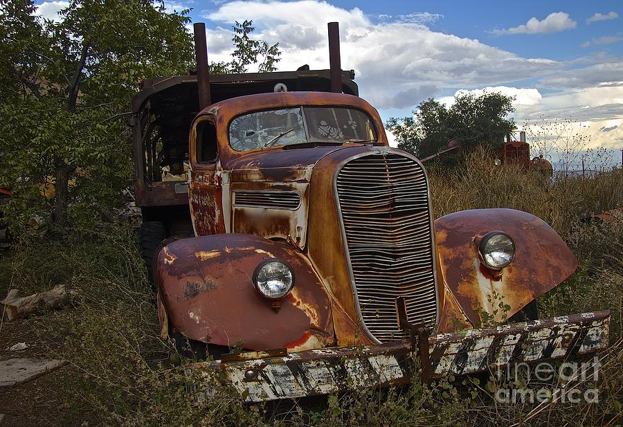 Old Truck Photograph - Rusty Truck by Anthony Jones