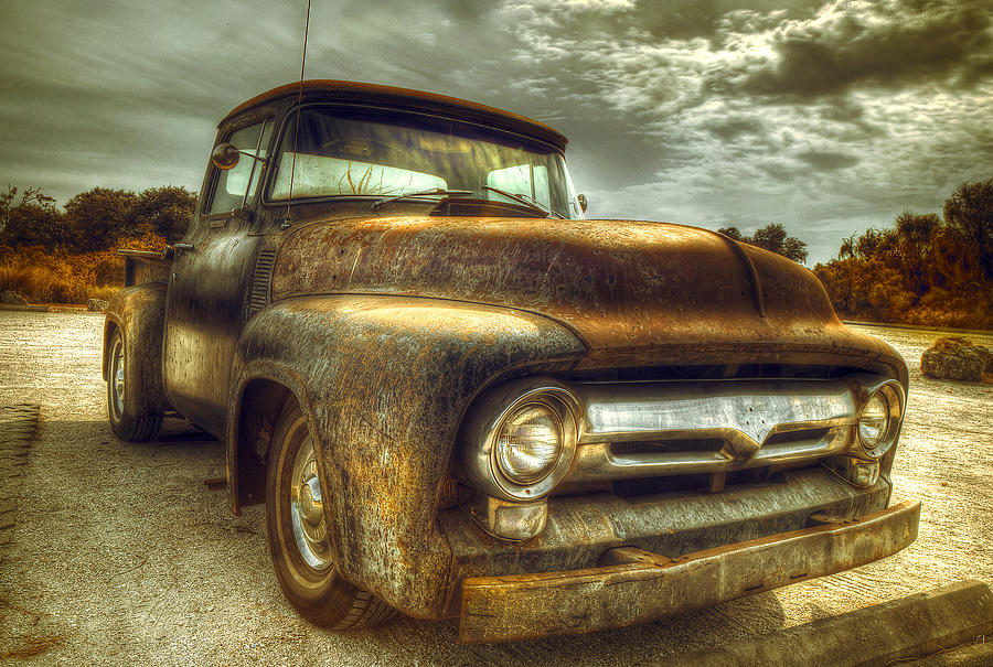 Rusty Truck Photograph by Mal Bray