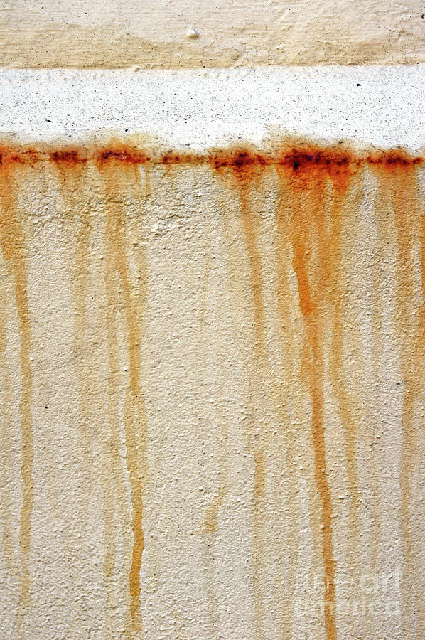 Abstract Photograph - Rusty Water Marks by Tom Gowanlock