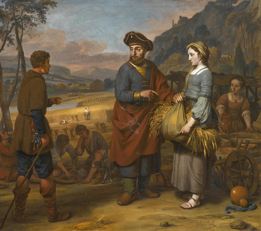 Ruth And Boaz Painting By Gerbrand Van Den Eeckhout