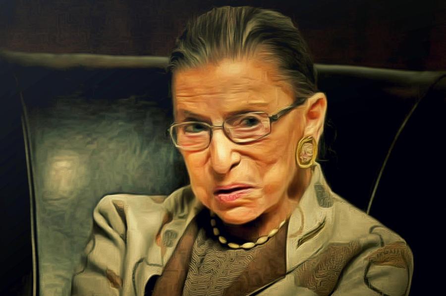 Judge Painting - Ruth Bader Ginsburg by Janice MacLellan