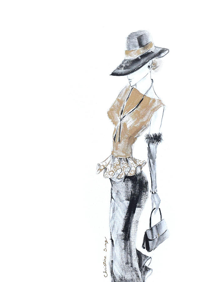 Fashion Illustration Painting - Ruth No.2 by Christine Song