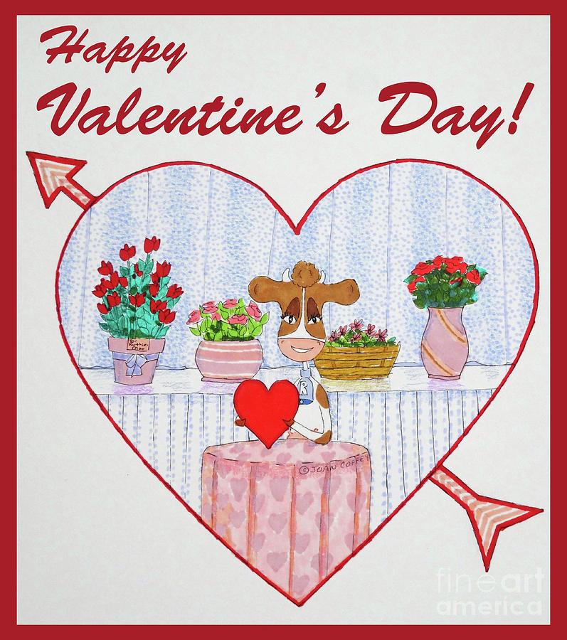 Ruthie-Moo Happy Valentine's Day by Joan Coffey