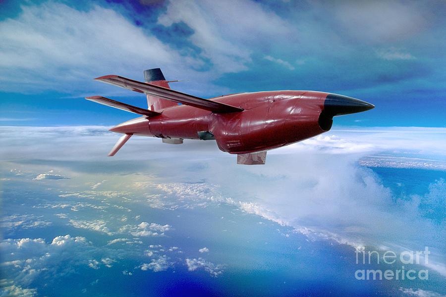 Uav Photograph - Ryan Bqm-34 Firebee Target Drone Missile by Wernher Krutein