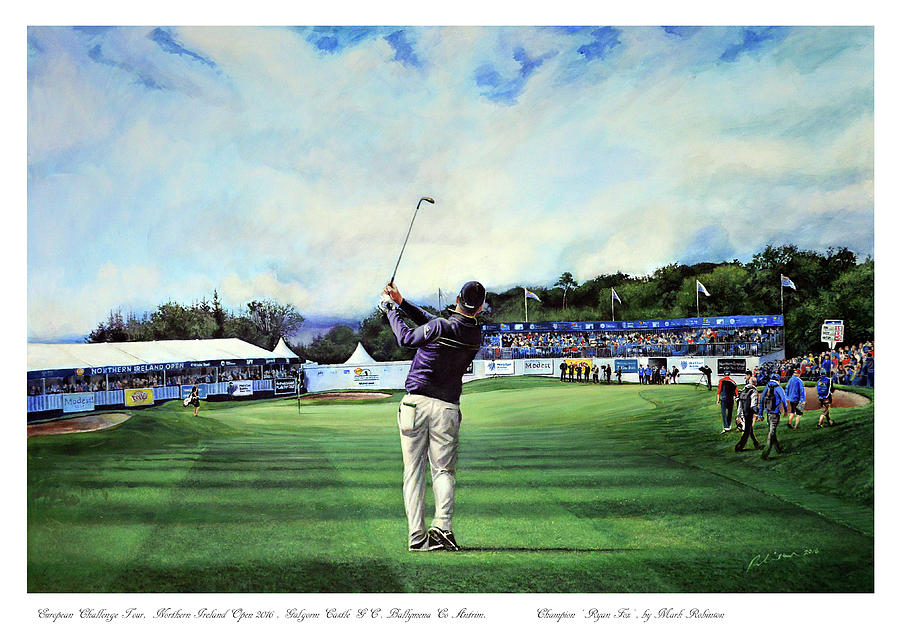 Ryan Fox Painting - Ryan Fox at the Tayto Northern Ireland Open 2016 by Mark Robinson