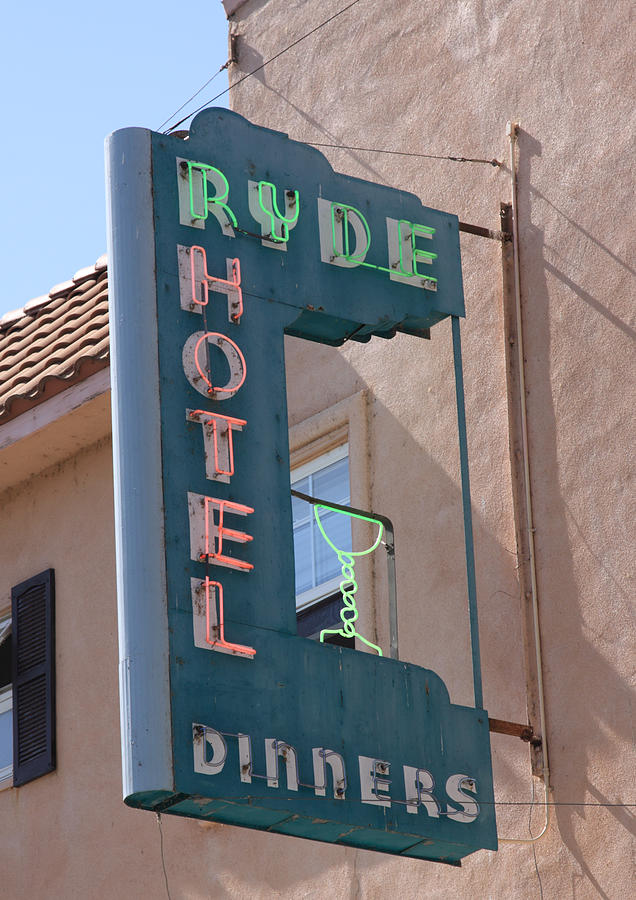 Bar Photograph - Ryde Hotel Sign by Troy Montemayor