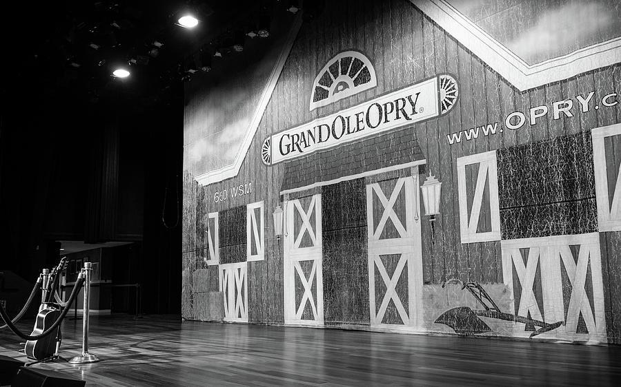 Nashville Photograph - Ryman Opry Stage by Glenn DiPaola