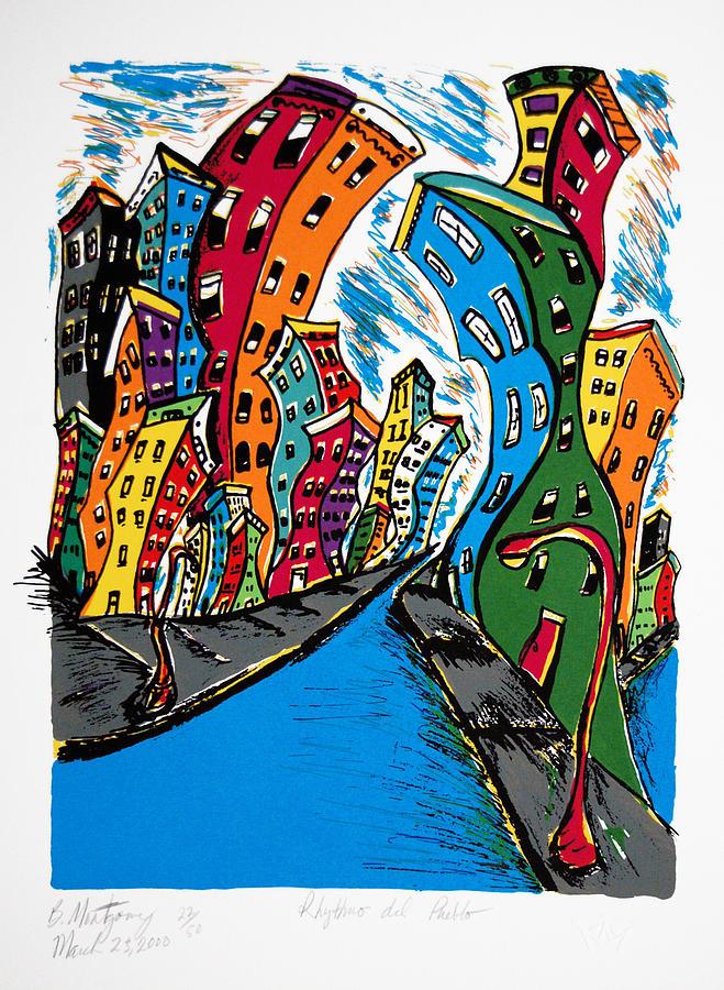 Serie Print - Rythmo Del Pueblo by Bernice Montgomery