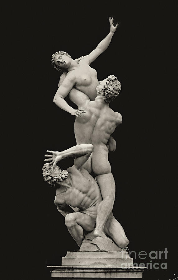 Marble Photograph - S 42 Rape Of The Sabine, Florence by Norberto Torriente