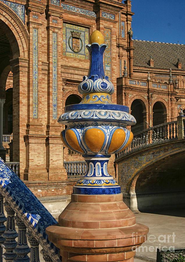 Marble Photograph - S 44 Alcazar, Seville, Spain  by Norberto Torriente