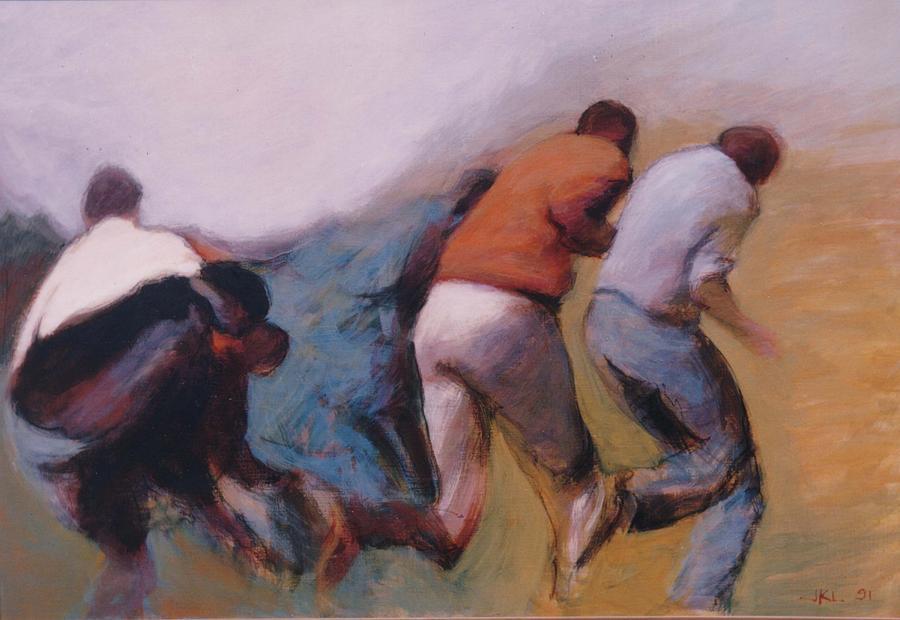 Apartheid Painting - S African Series II by James LeGros