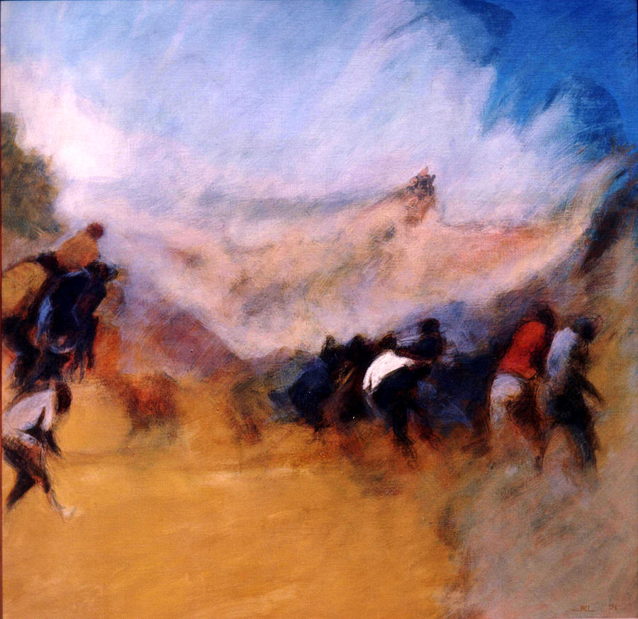 Apartheid Painting - S. African Series No. 1 by James LeGros
