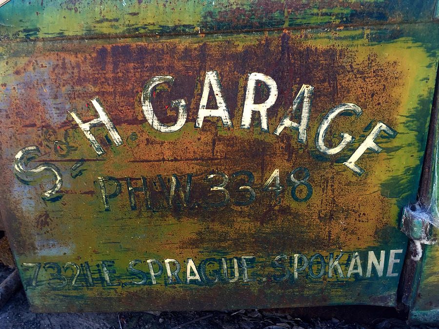 Old Truck Photograph - S And H Garage by Bryan Joyce