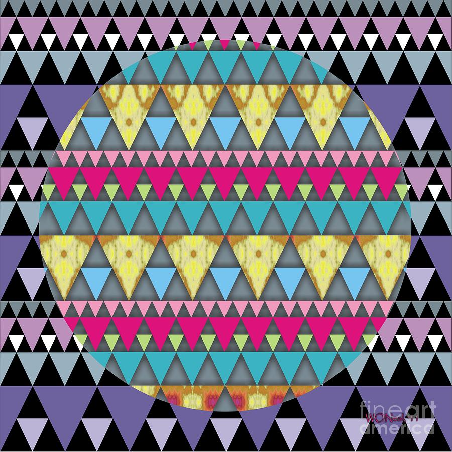 Conceptual Digital Art - S-pyramids 1 by Walter Oliver Neal