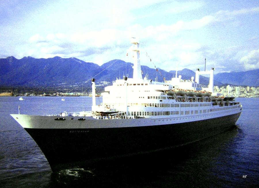 Ship Photograph - S S Rotterdam by Will Borden