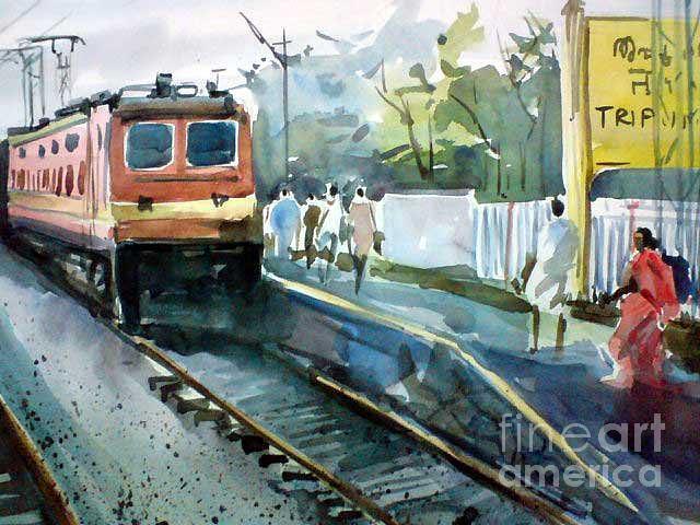 Landscape Painting - S5 by Sajeev KS