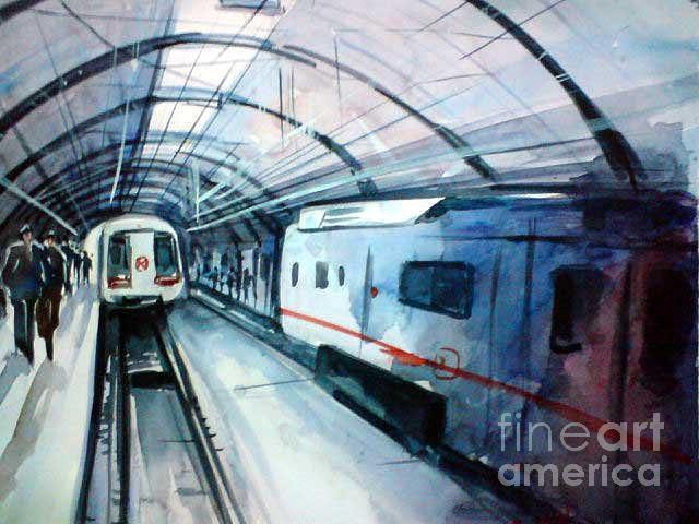 Landscape Painting - S6 by Sajeev KS