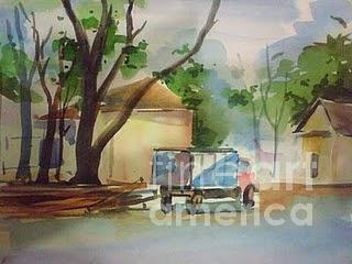 Landscape Painting - S7 by Sajeev KS