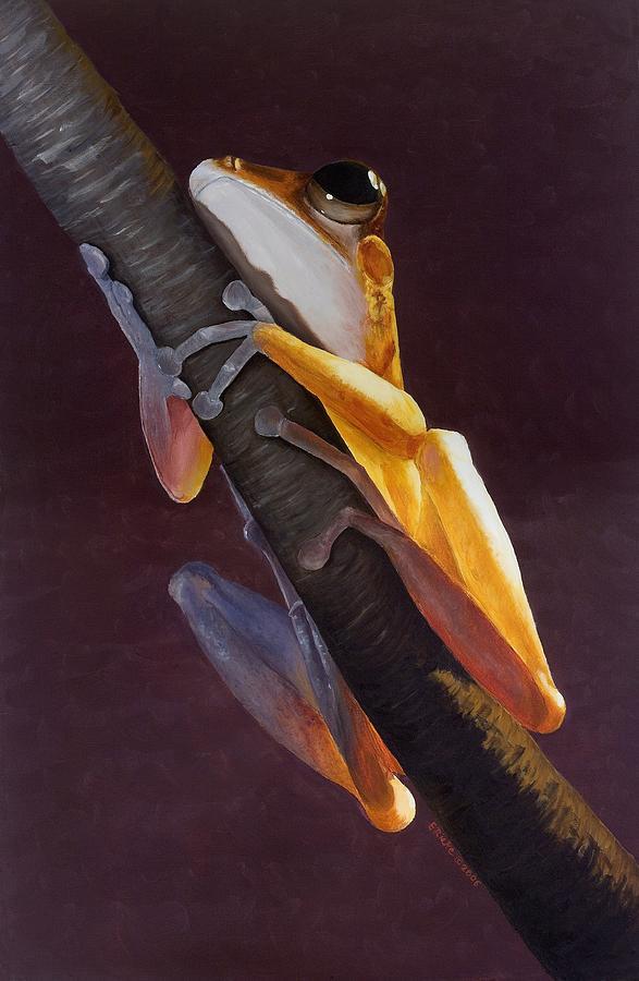 Tree Frog Painting - Sabah Tree Dweller by Elizabeth Rieke Hefley