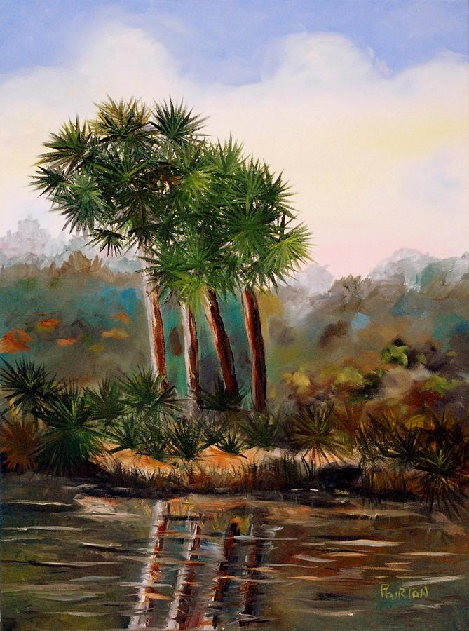Sabal Palmetto Painting - Sabal Palmettos by Phil Burton