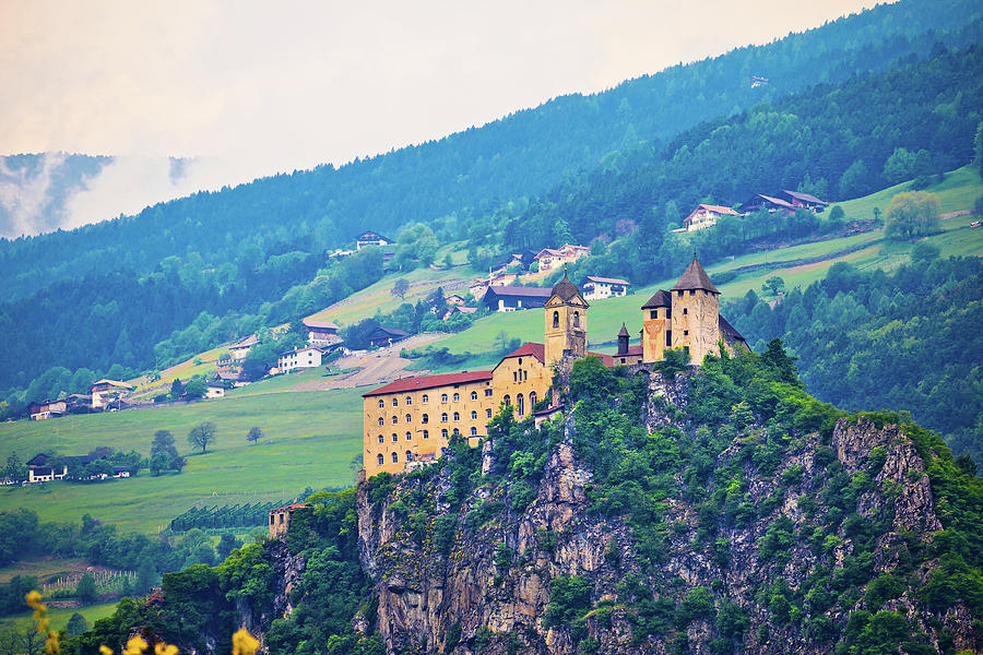 Italy Photograph - Saben Abbey On High Cliff Near Klausen View by Brch Photography