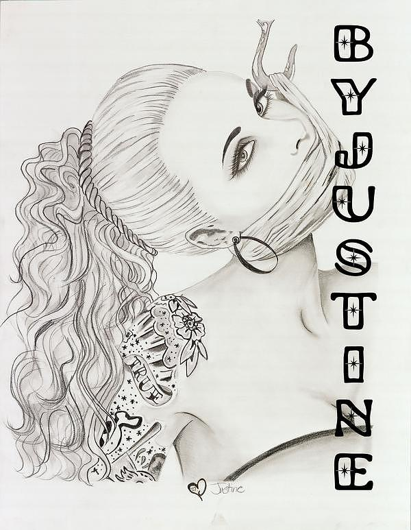 Sabina Kelly Drawing by Justine Carbaugh