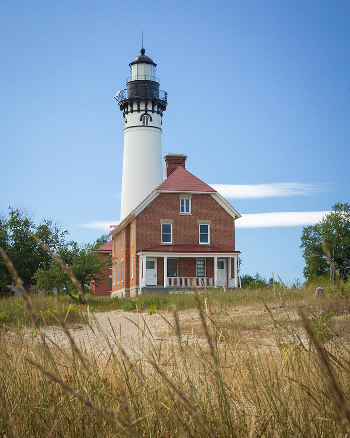 Sable Photograph - Sable Point Lighthouse by Kimberly Kotzian