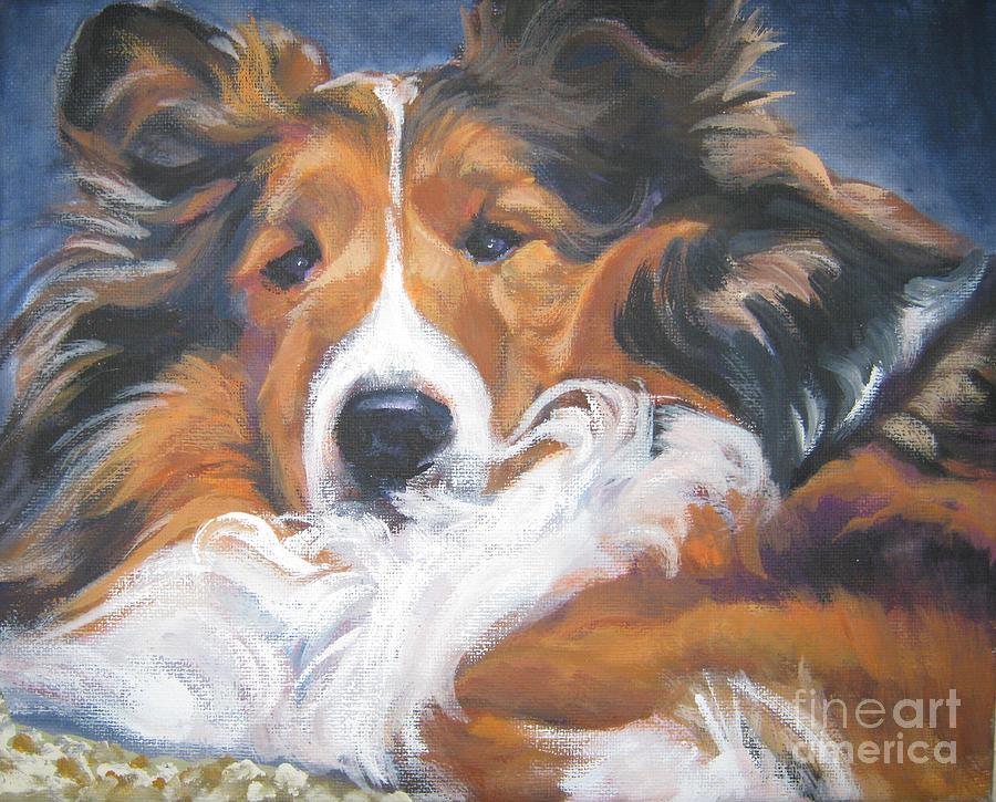 Sable Painting - Sable Shetland Sheepdog by Lee Ann Shepard