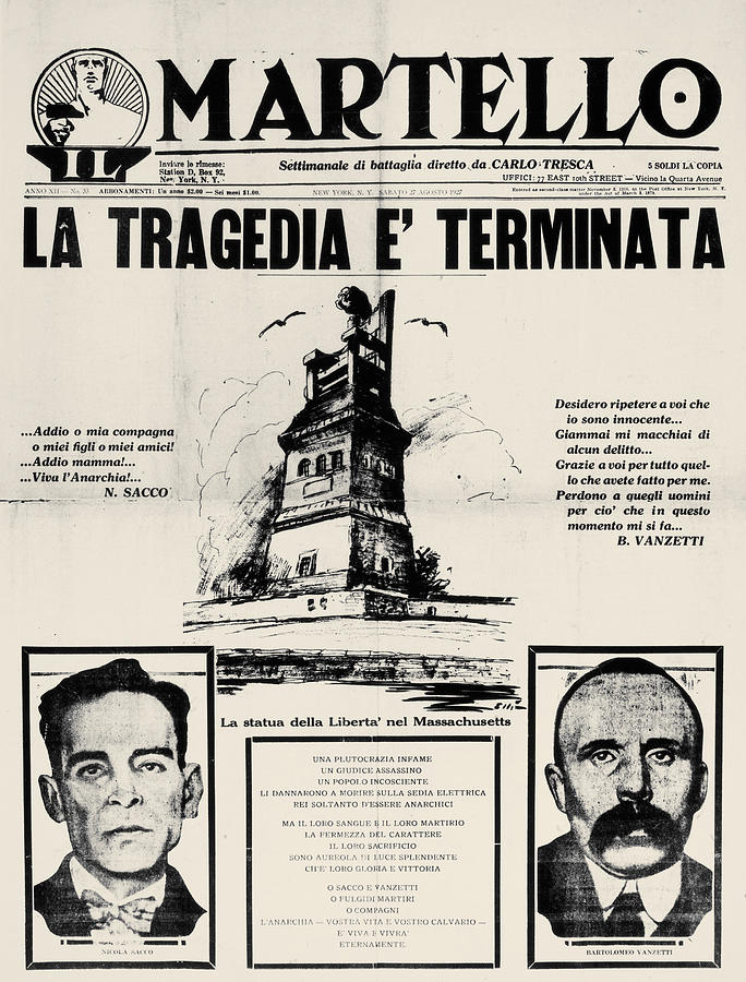 1927 Photograph - Sacco And Vanzetti Front Page by Granger