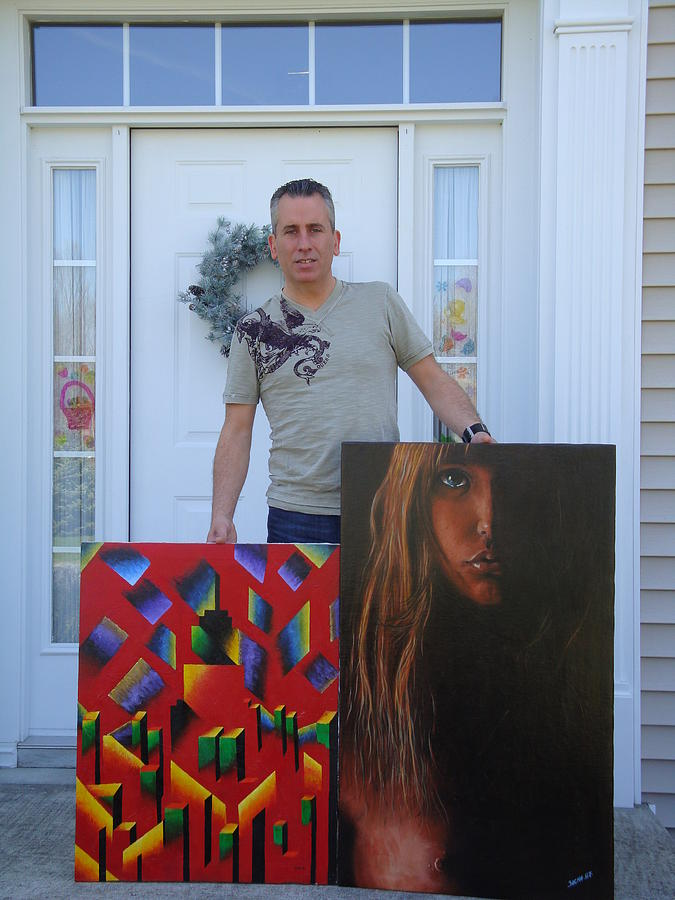Sacha Painting - Sacha With Some Old Work by S A C H A -  Circulism Technique