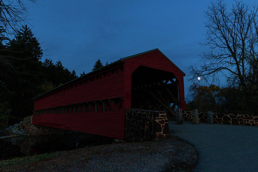 Sachs Bridge at Night by Liza Eckardt