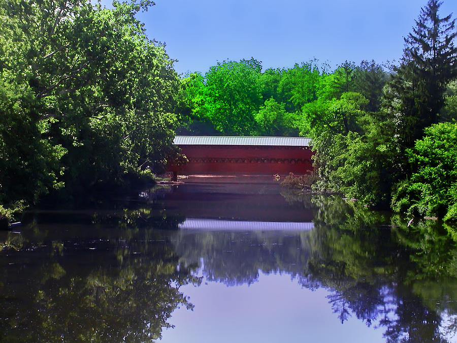 Gettysburg Photograph - Sachs Covered Bridge In Gettysburg  by Bill Cannon