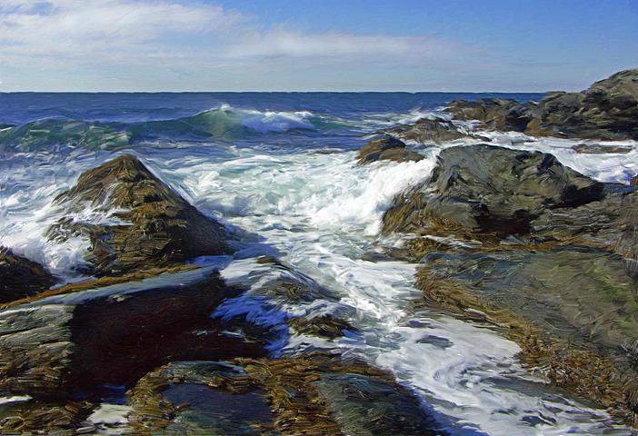 Seascape Digital Art - Sachuest Surf  No. 4 by Jim Stafford