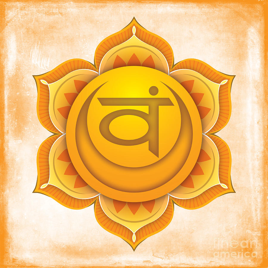 Sacral Digital Art - Sacral Chakra by David Weingaertner
