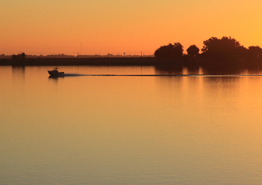 Boat Photograph - Sacramento River Sunrise by Troy Montemayor