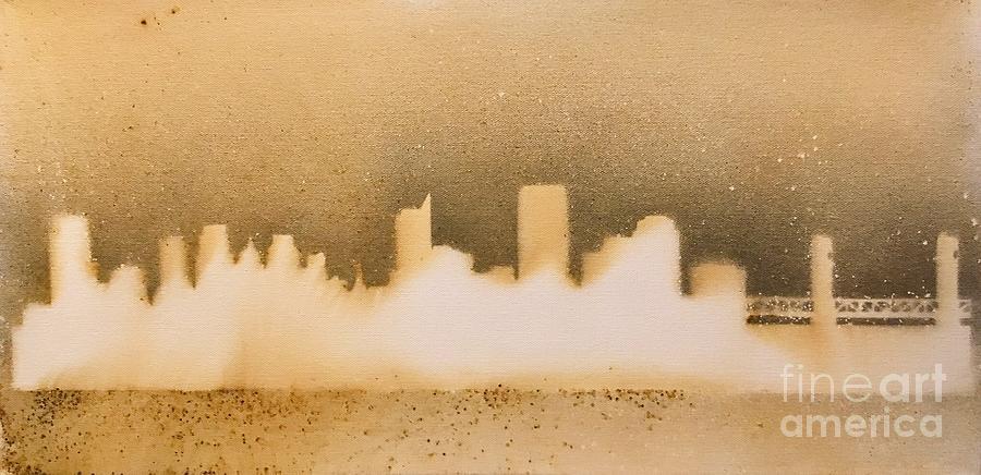 Sacramento Pyrography - Sacramento Skyline by Brandi Pfleider