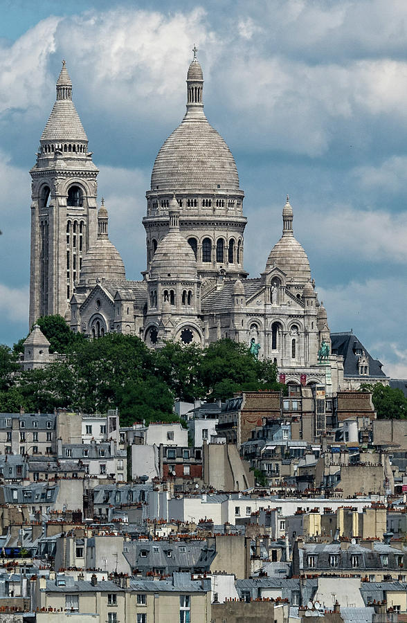 Sacre Coeur Above the Rooftops by Gary Karlsen
