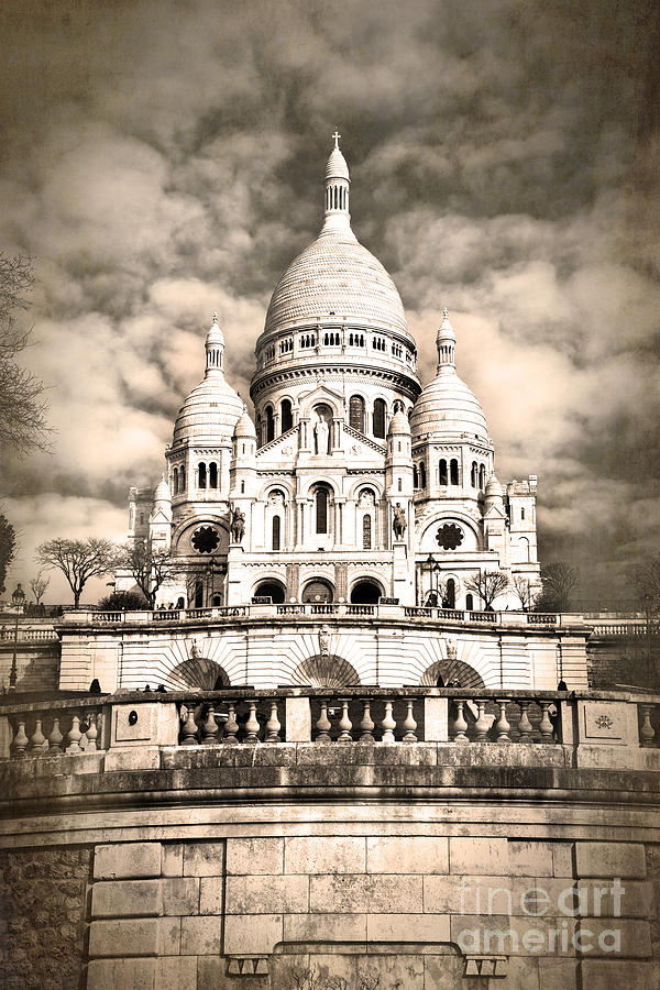 Paris Photograph - Sacre Coeur Sepia by Jane Rix