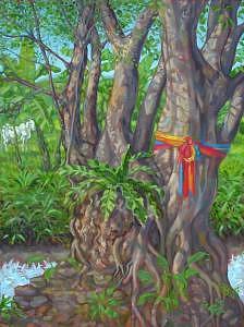 Painting Painting - Sacred Bo Tree by Paul Herman